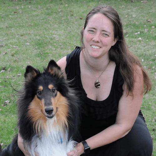 Julia Meyers-Manor with her dog, Athos