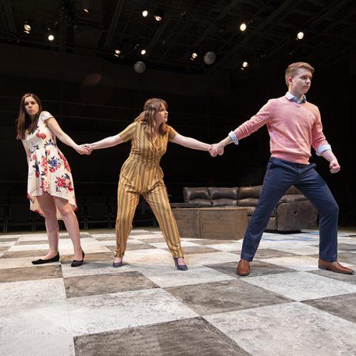 """Student actors rehearse """"Tartuffe"""""""