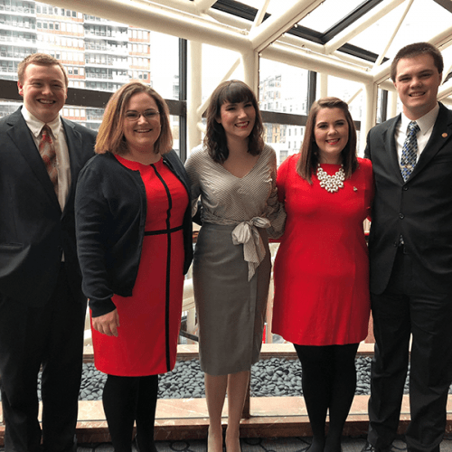 Photo of Ripon College Business Ethics team