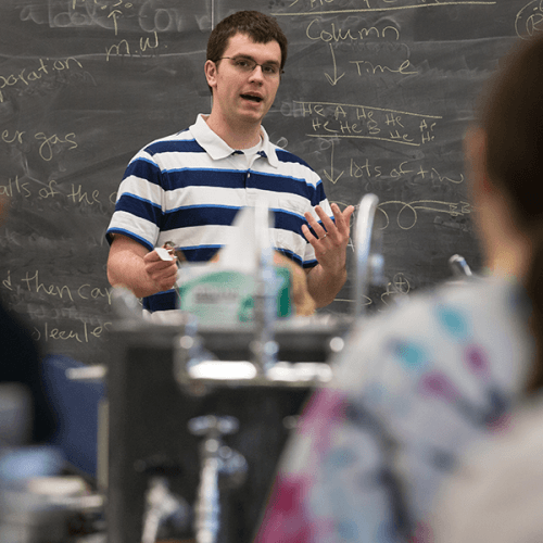 Patrick Willoughby in the classroom