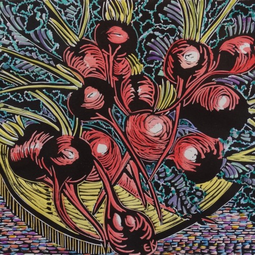 artwork by professor of art emerita Evelyn Kain