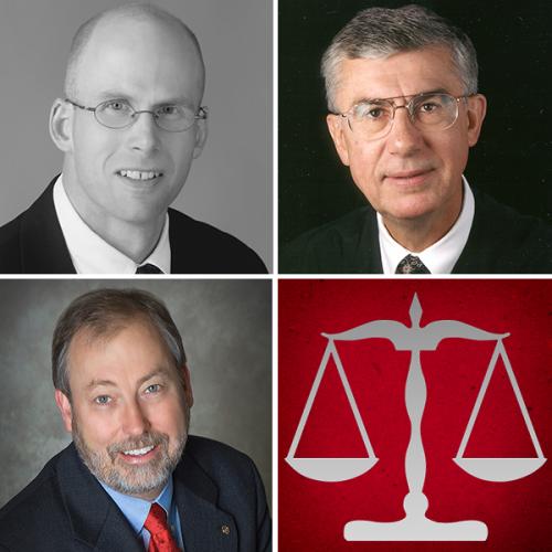 Ripon College Alumni Judges: Guy Dutcher, Jay Wilcox and Gary Sharpe