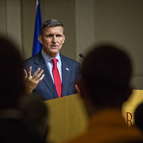 Lt. Gen. Michael Flynn gives speech at Ripon College