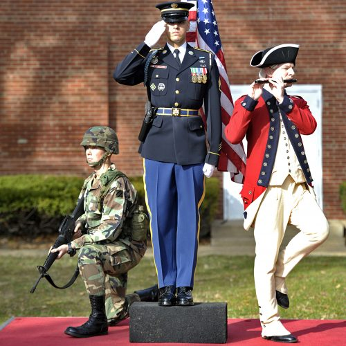 Photo of statue honoring 3rd United States Infantry Regiment (The Old Guard)