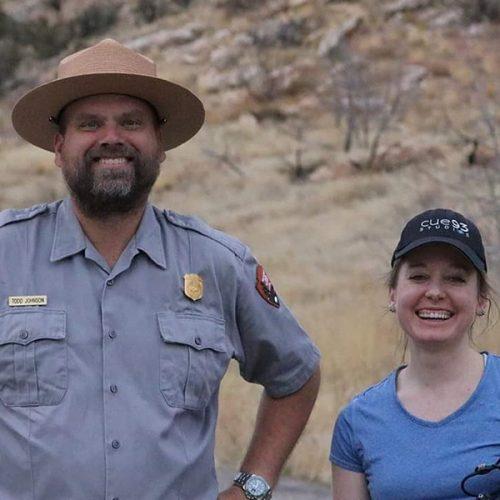 Todd Johnson with filmmaker Clara Ritger.