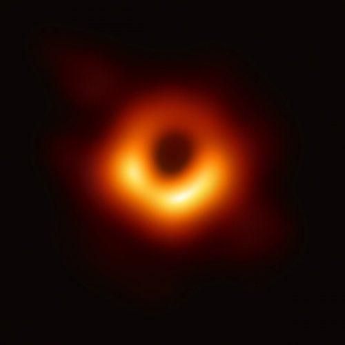 Photographic image of a black hole