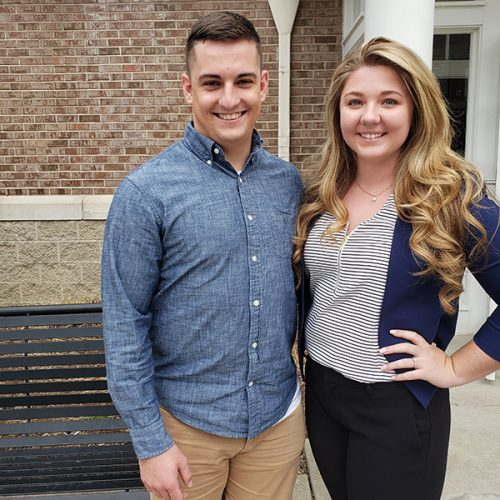 Justin Filter '19, left, and Shelbi Buettner '19