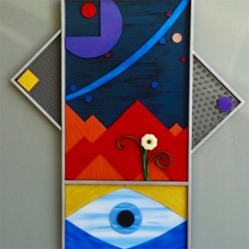 Artwork by Emeritus Professor of Art Gene Kain