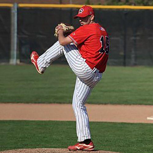 Brice Swick '20 playing baseball