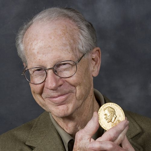 Oliver E. Williamson '54 with his Nobel Prize medal