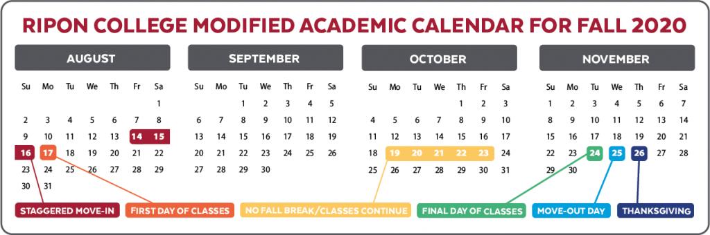 academic calendar for fall