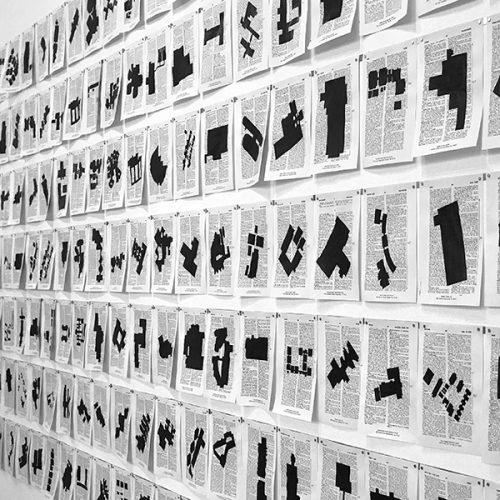 Example of artwork in exhibit