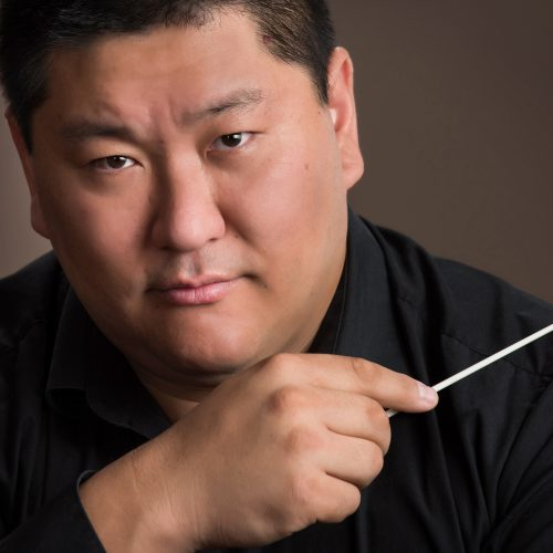 man with a conducting stick