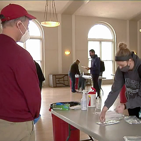 College administrators conduct COVID-19 tests in Great Hall