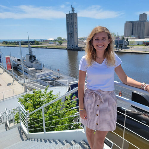 Katelyn Dano '21 at theKatelyn Dano '21 at the Wisconsin Maritime Museum in Manitowoc