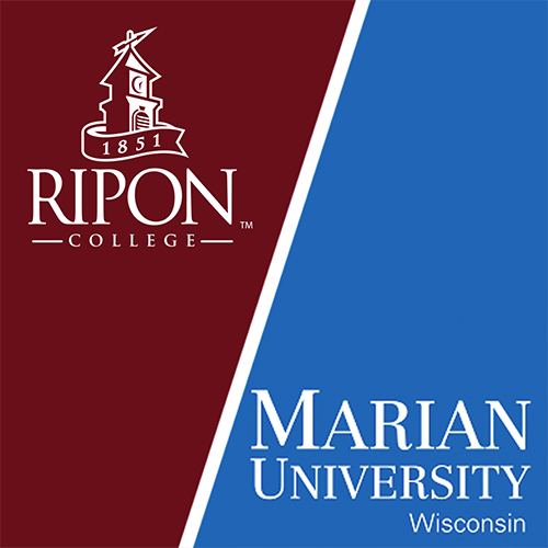 Ripon College and Marian University of Wisconsin logos