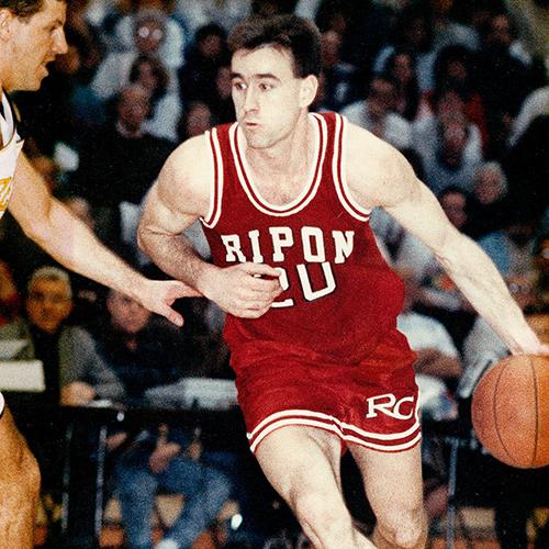 Brad Alberts '92 playing during his Ripon career.