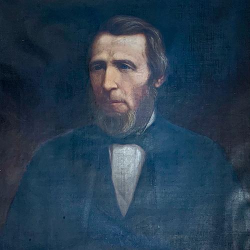 Oil portrait of Jehdeiah Bowen